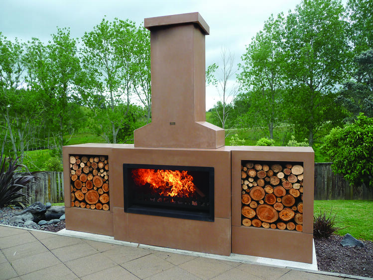 5 outdoor fireplace trends for 2017 for Spanish style outdoor fireplace