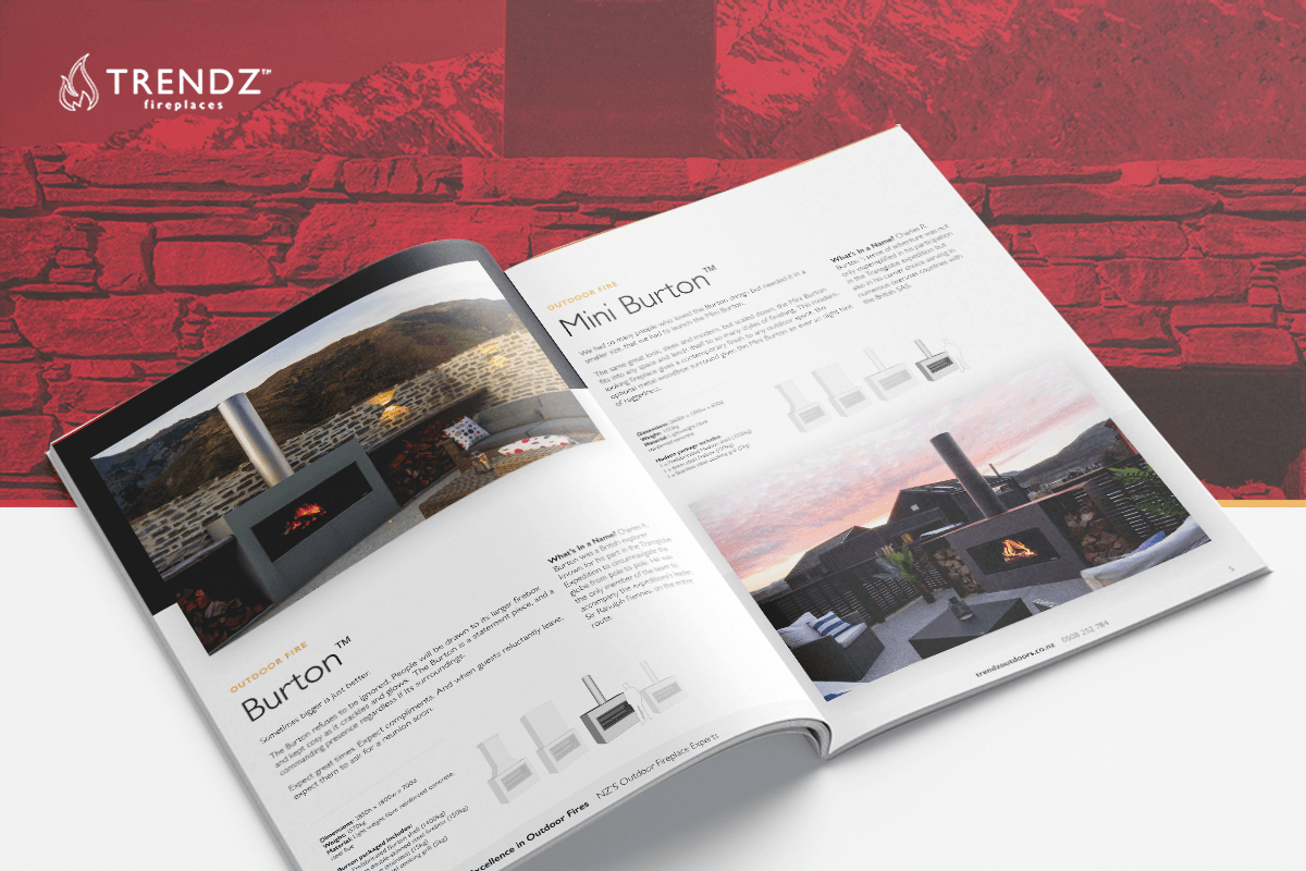 Trendz outdoor fireplaces | download the outdoor fireplace product brochure here