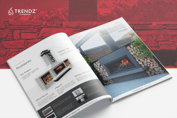 Trendz outdoor fireplace brochure