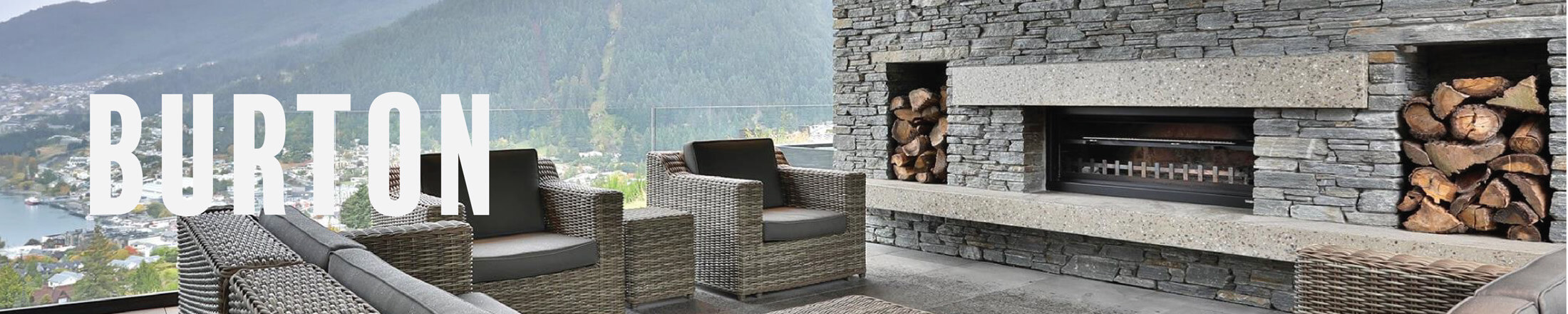 statement outdoor fireplace by trendz outdoors