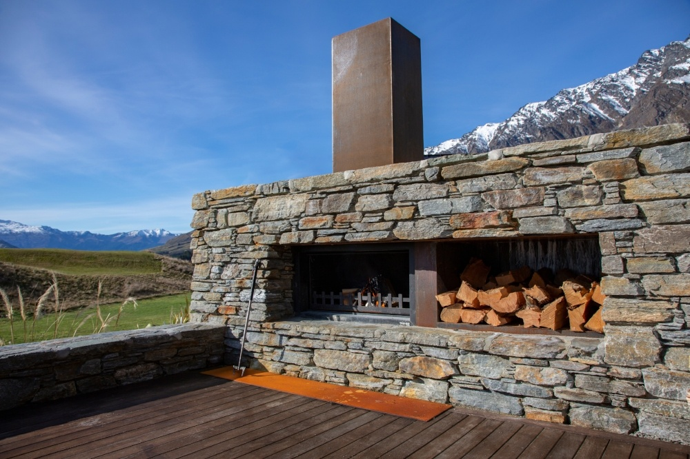 Outdoor fireplaces add value to new housing developments