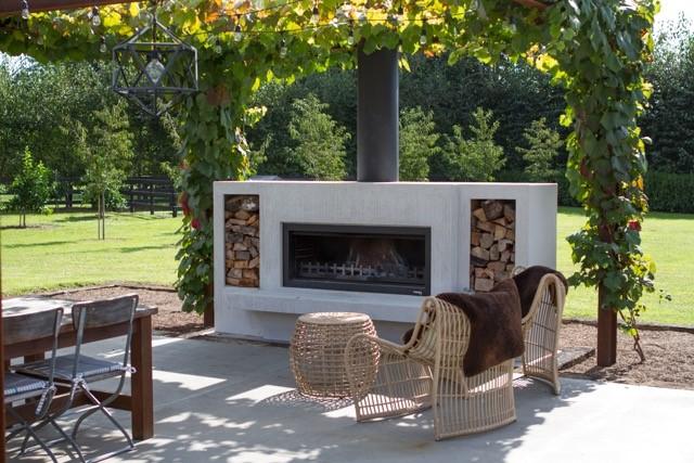 Burton Outdoor Fireplace