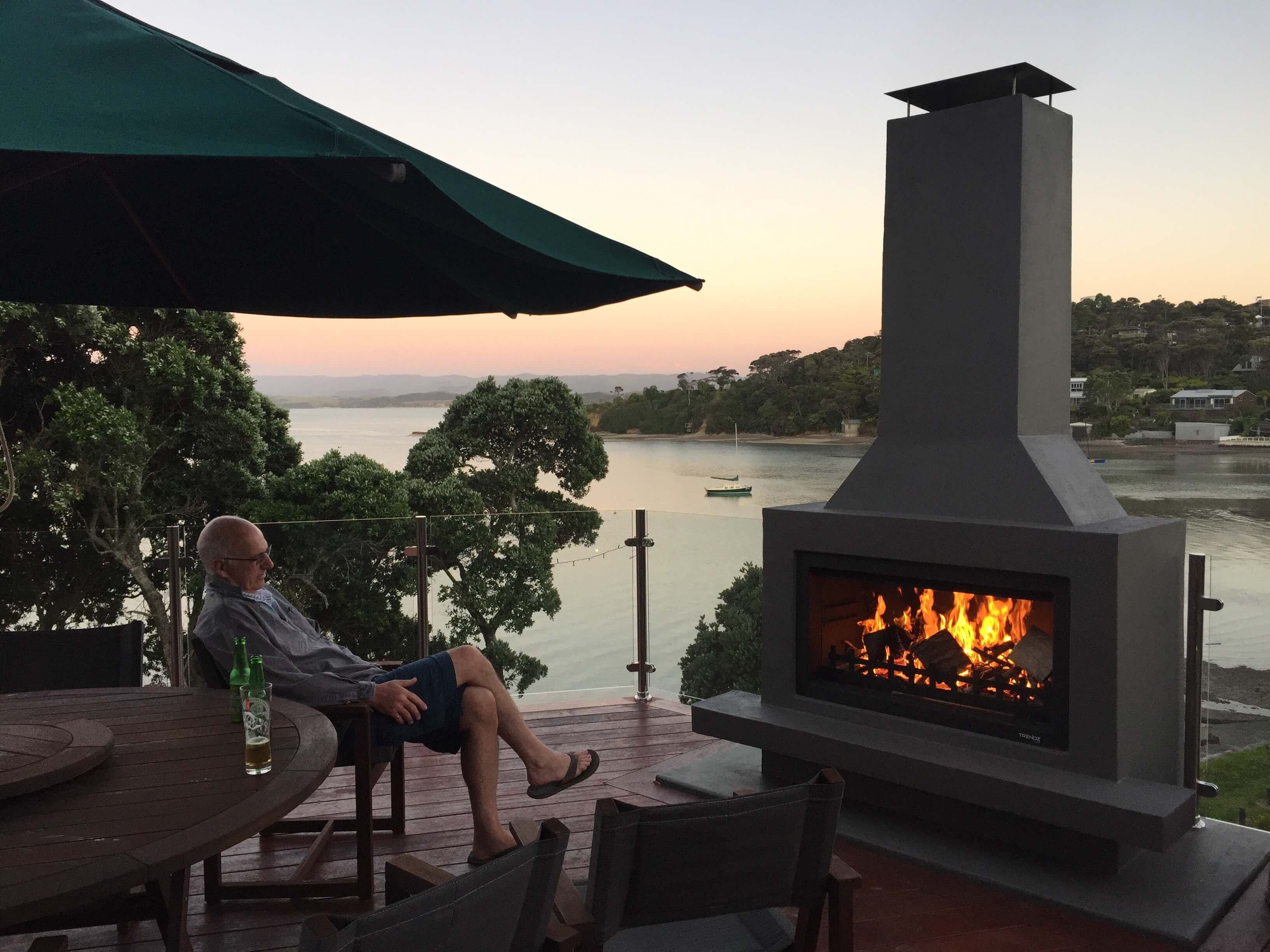 Make your investment property stand out with a feature outdoor fireplace