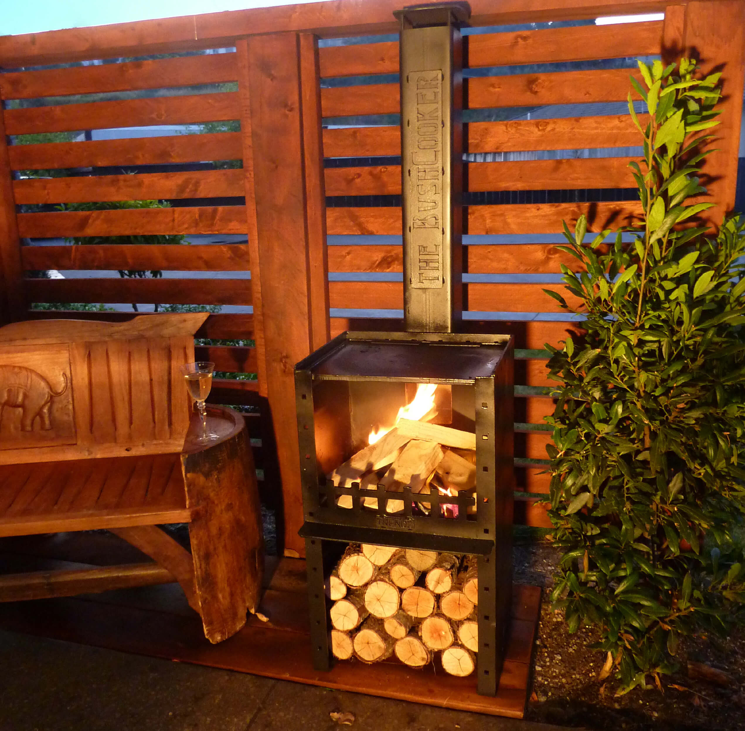 bookcooker outdoor fireplace perfect for cooking