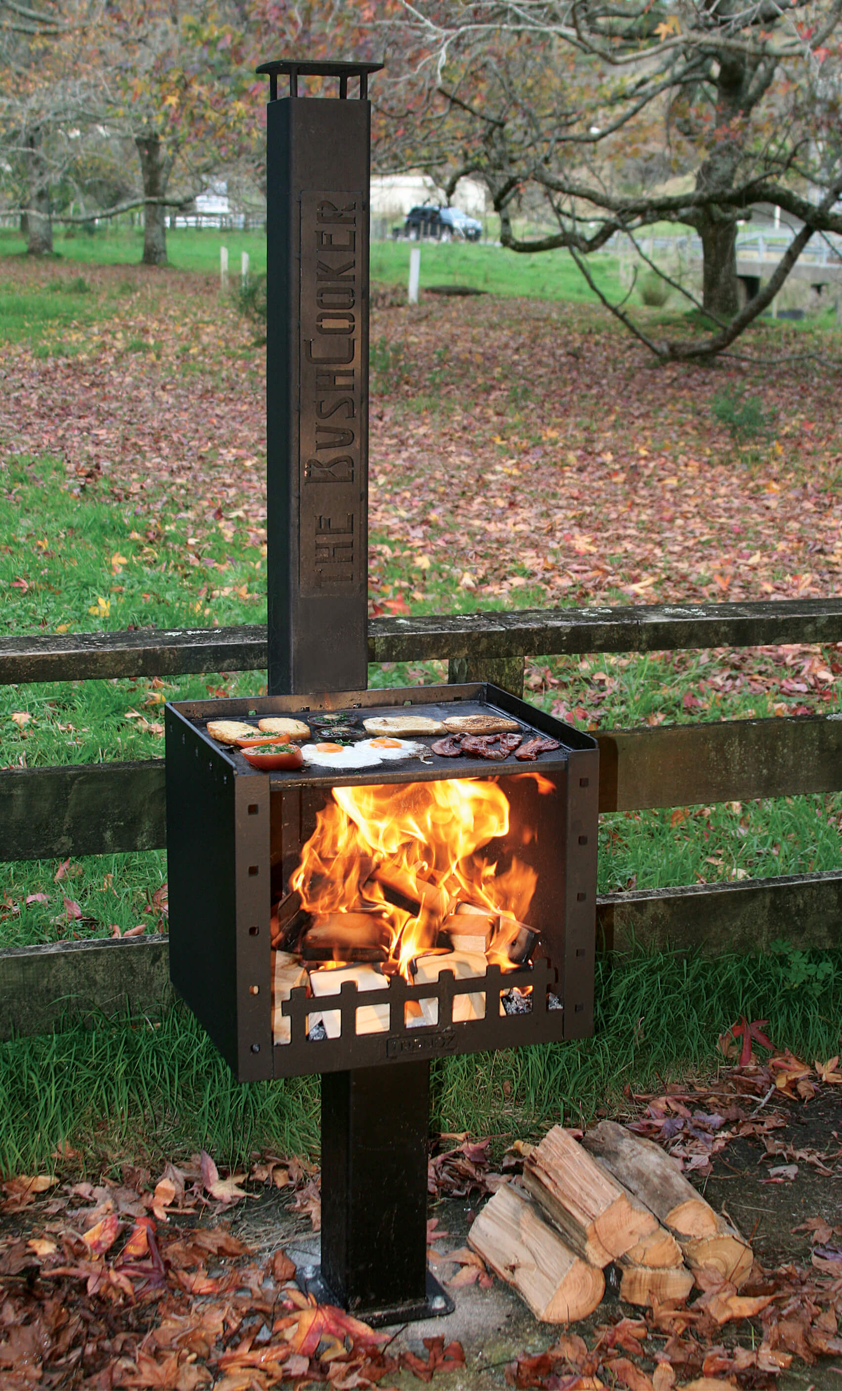 Bushcooker outdoor fireplace