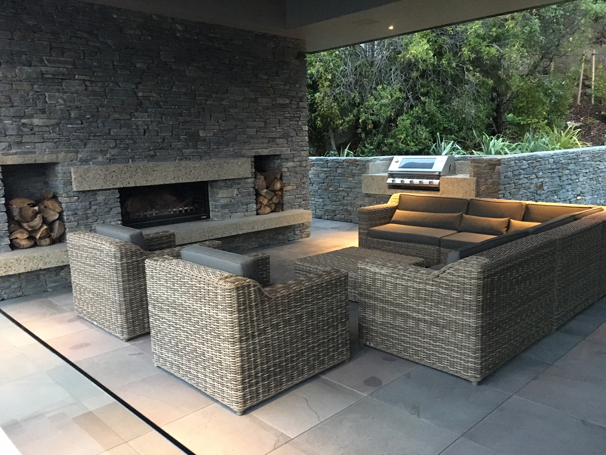 custom award winning outdoor fireplace queenstown