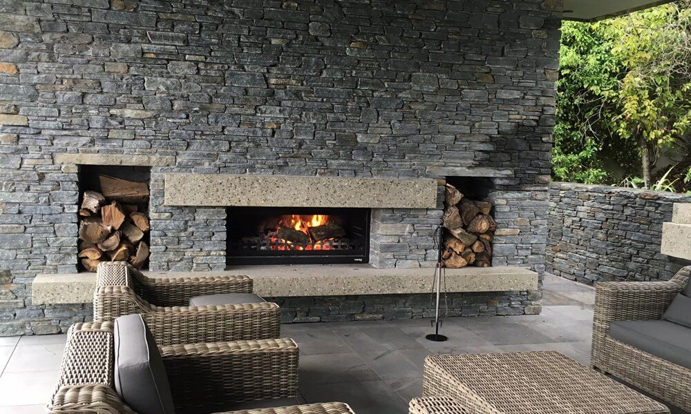 indoor outdoor flow in your home by adding an outdoor fireplace