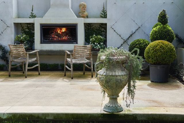 Create a stylish outdoor area with a Trendz outdoor fireplace