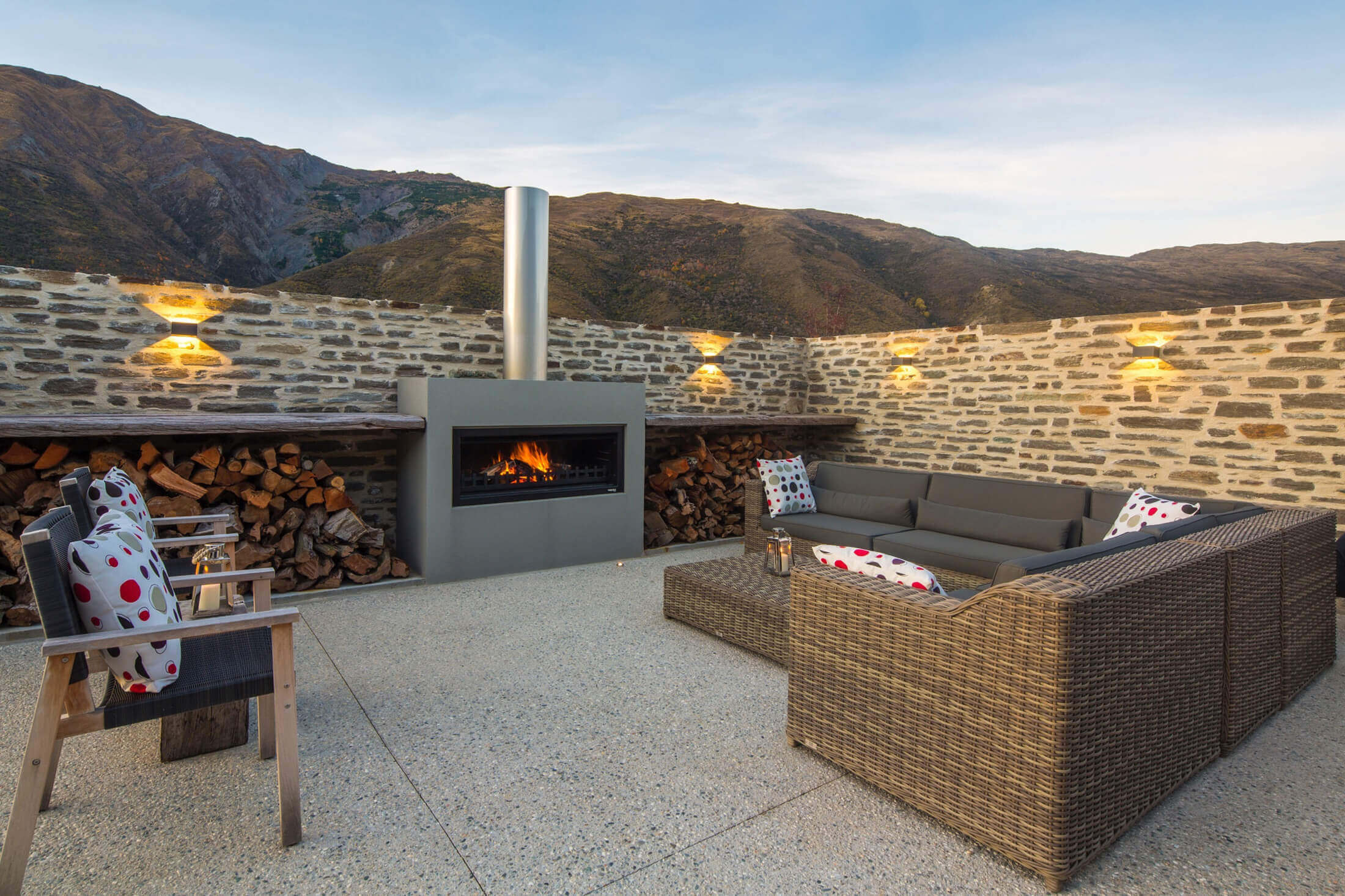 trendz outdoor fireplace design