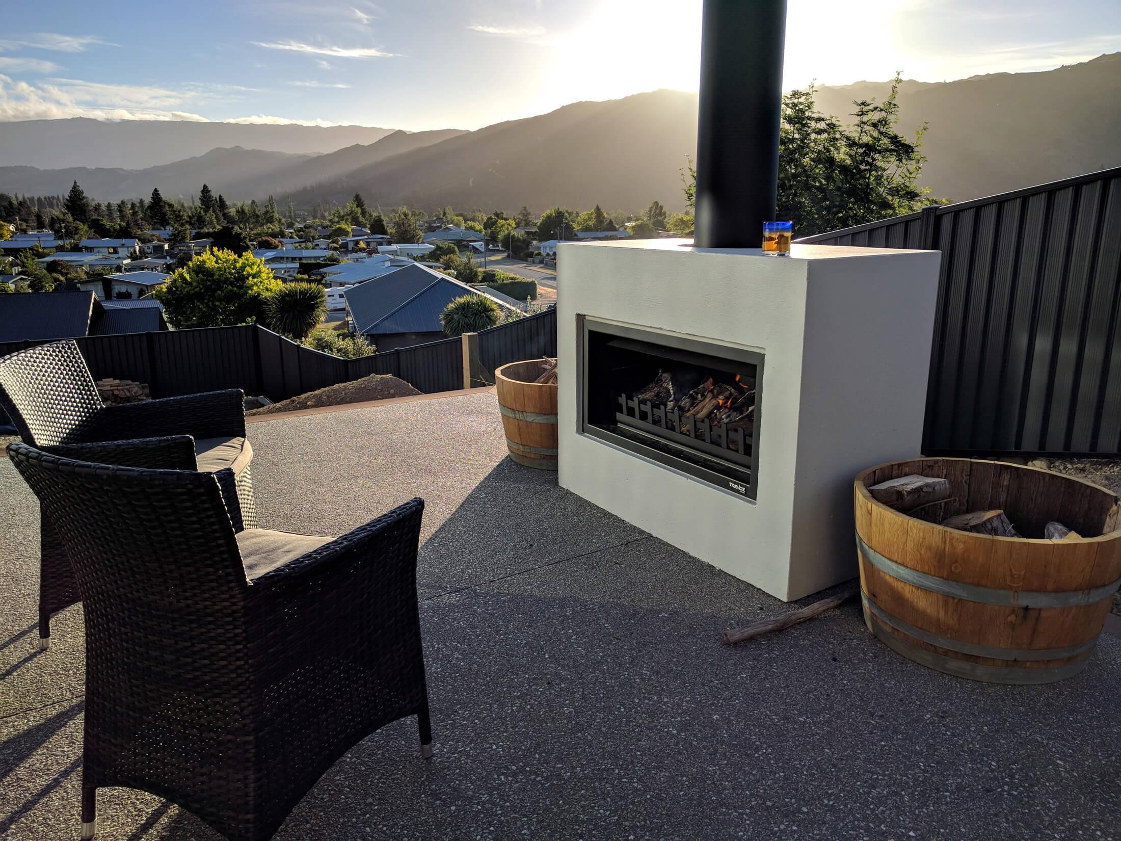 trendz outdoor fireplace - mini burton
