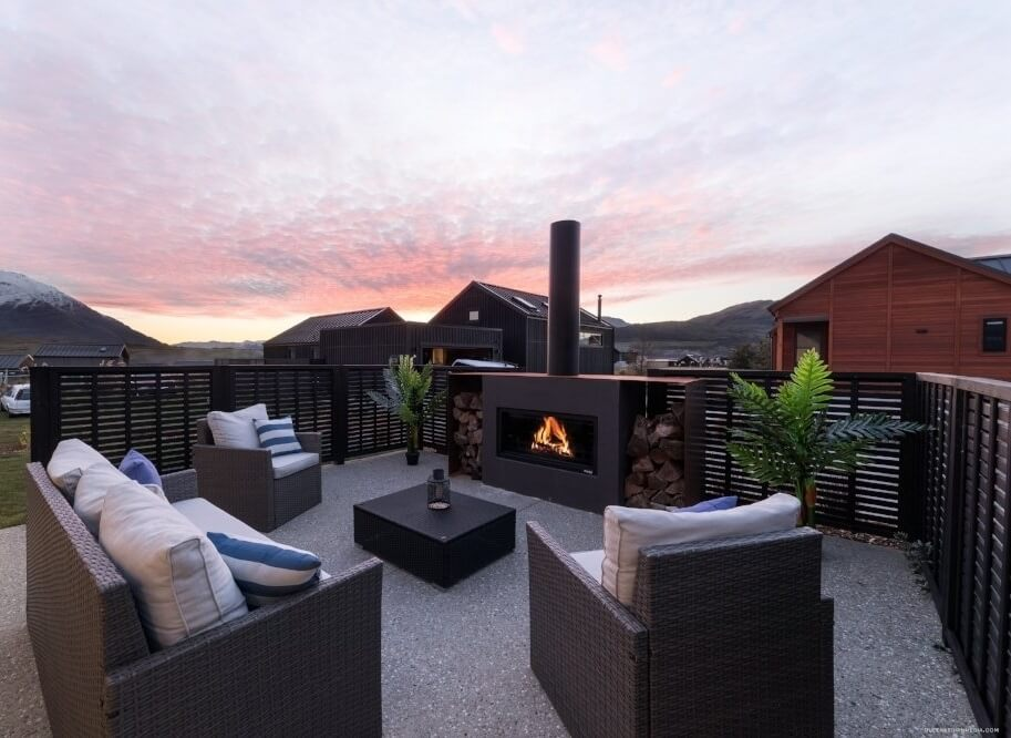 Outdoor fireplace and heating solutions