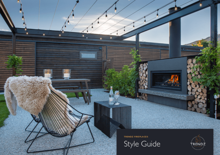Trendz Outdoor Fireplaces | download your outdoor style guide here