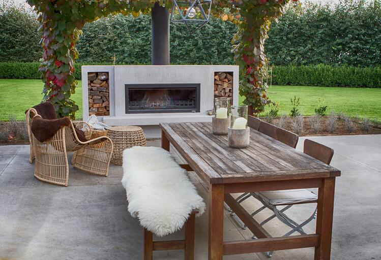 Designer outdoor fireplace from Trendz Outdoors