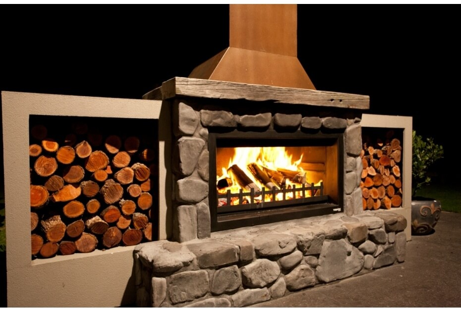 outdoor fireplace kits wood burning