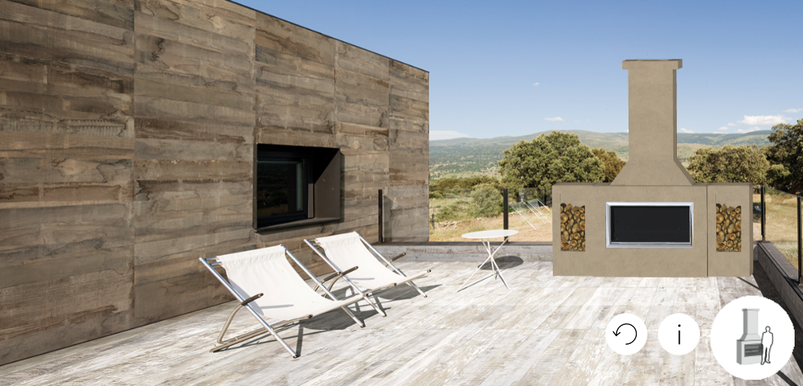 create your own outdoor entertaining area with our trendz fireplace configurator