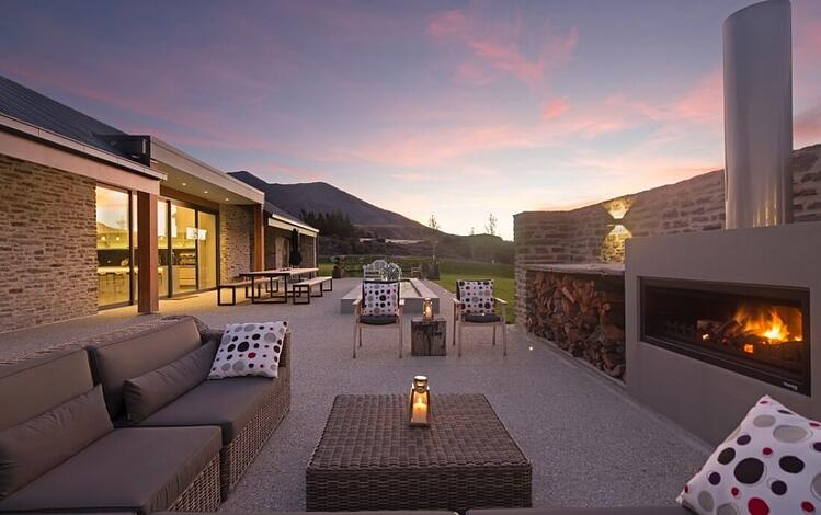 outdoor entertinaing with a trendz fireplace nz