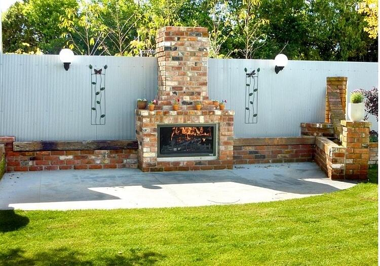 Best outdoor fireplace - country style