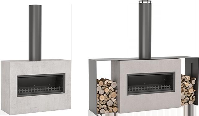 Burton outdoor fireplace design