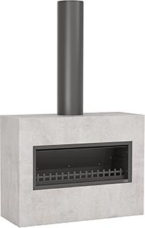 Trendz outdoor fireplace in the Burton design