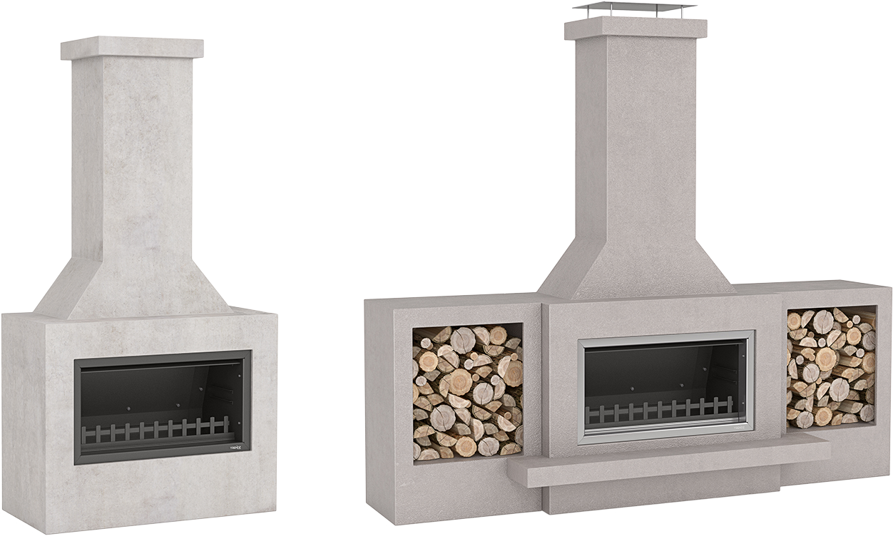 Trendz Outdoors fireplace in Douglas design