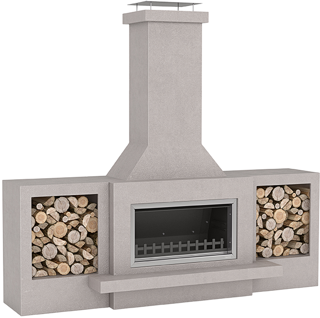 Optional upgrade to fireplace design