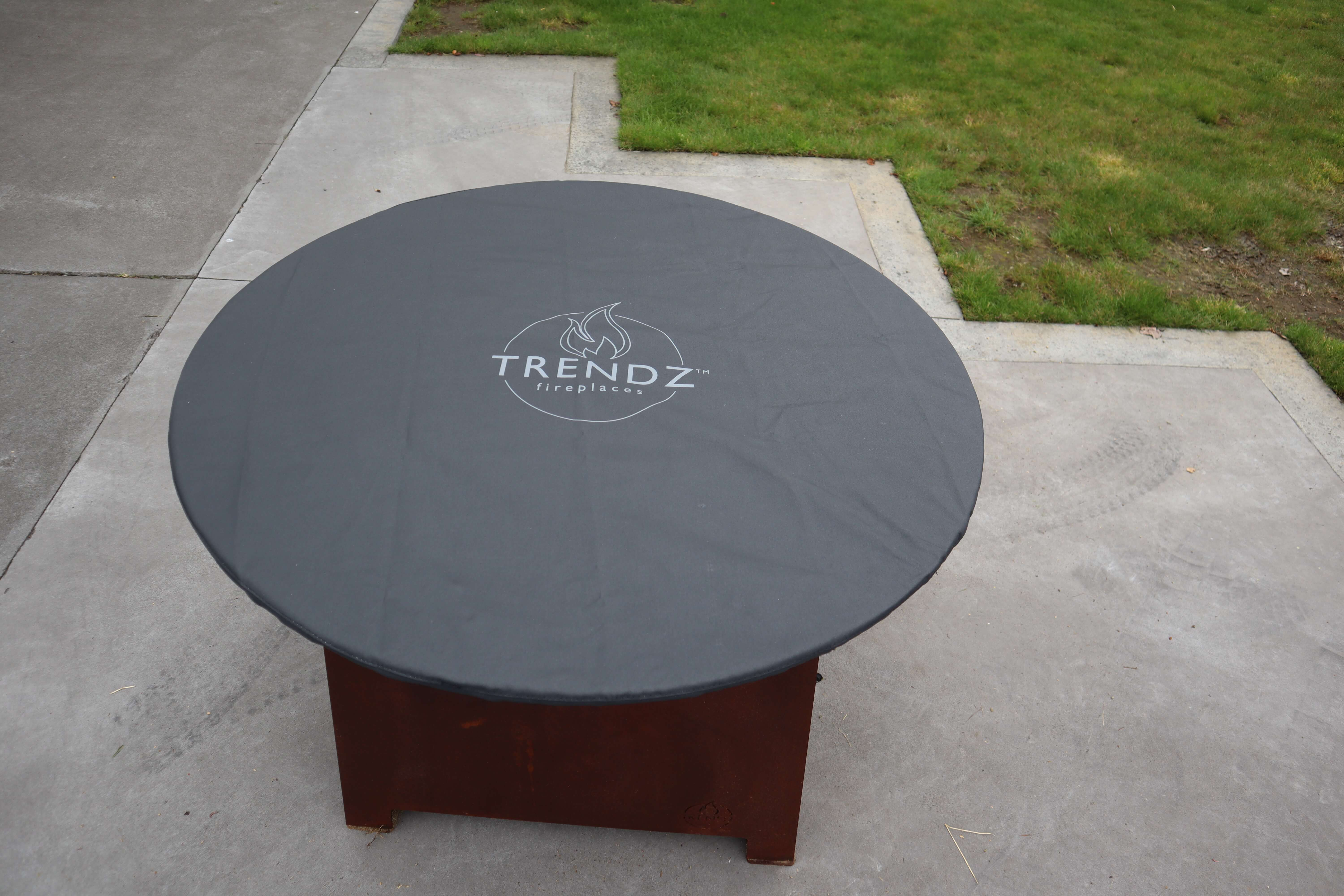 Protecting outdoor firepit with a canvas cover
