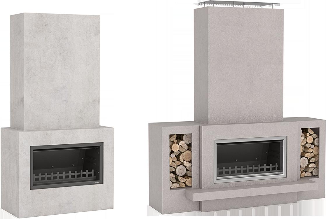 Hudson outdoor fireplace design