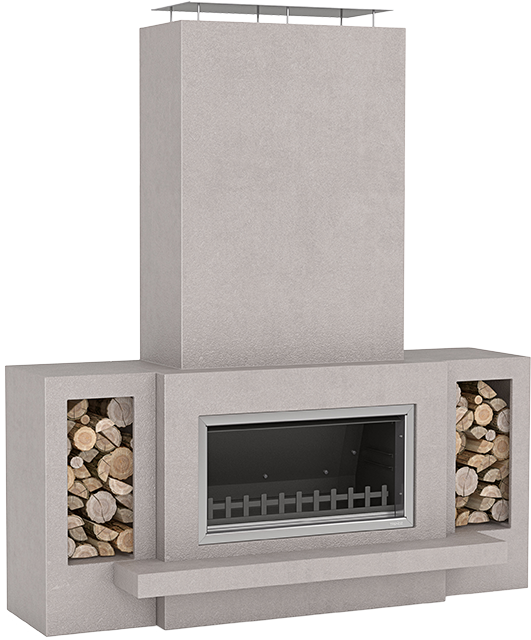 Trendz Outdoors fireplace in Hudson design