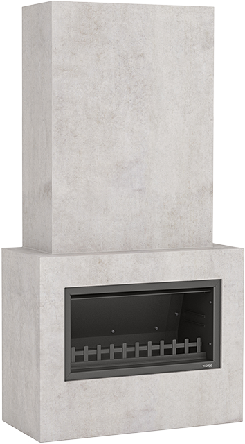 Trendz outdoor fireplace in the Hudson design