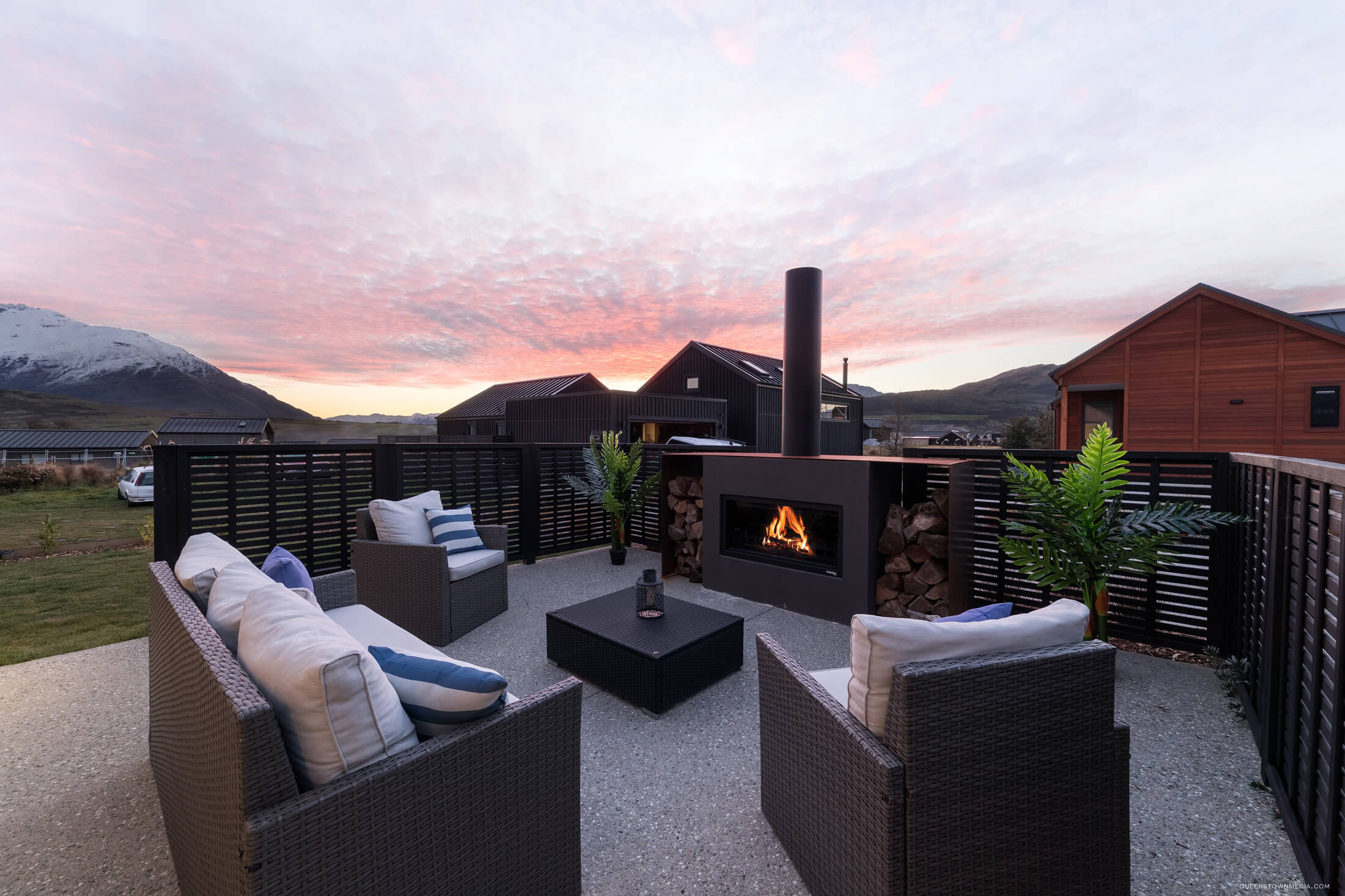 Fireplace for outdoor entertaining
