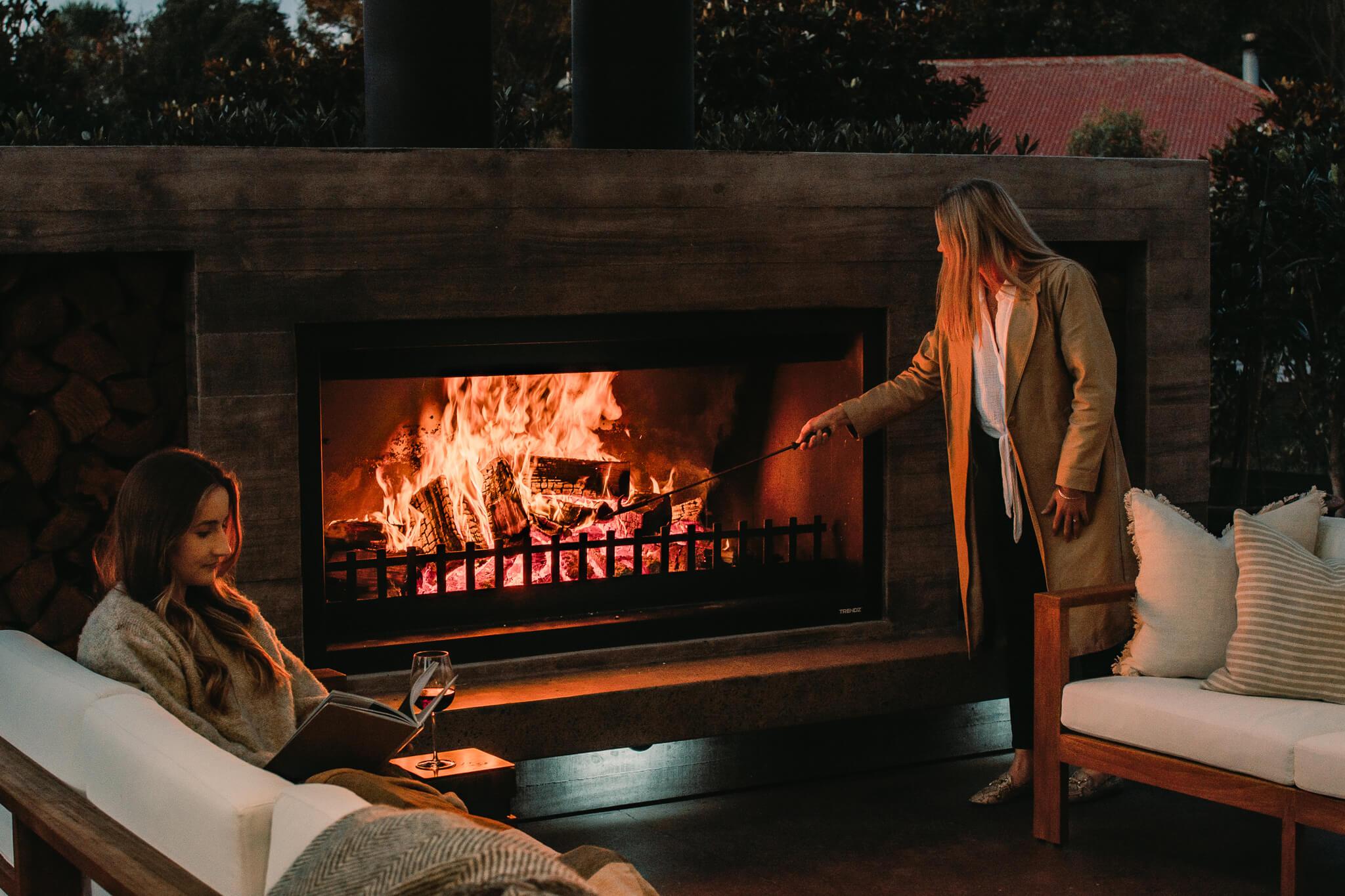 Twin Peak Large Outdoor Fireplace