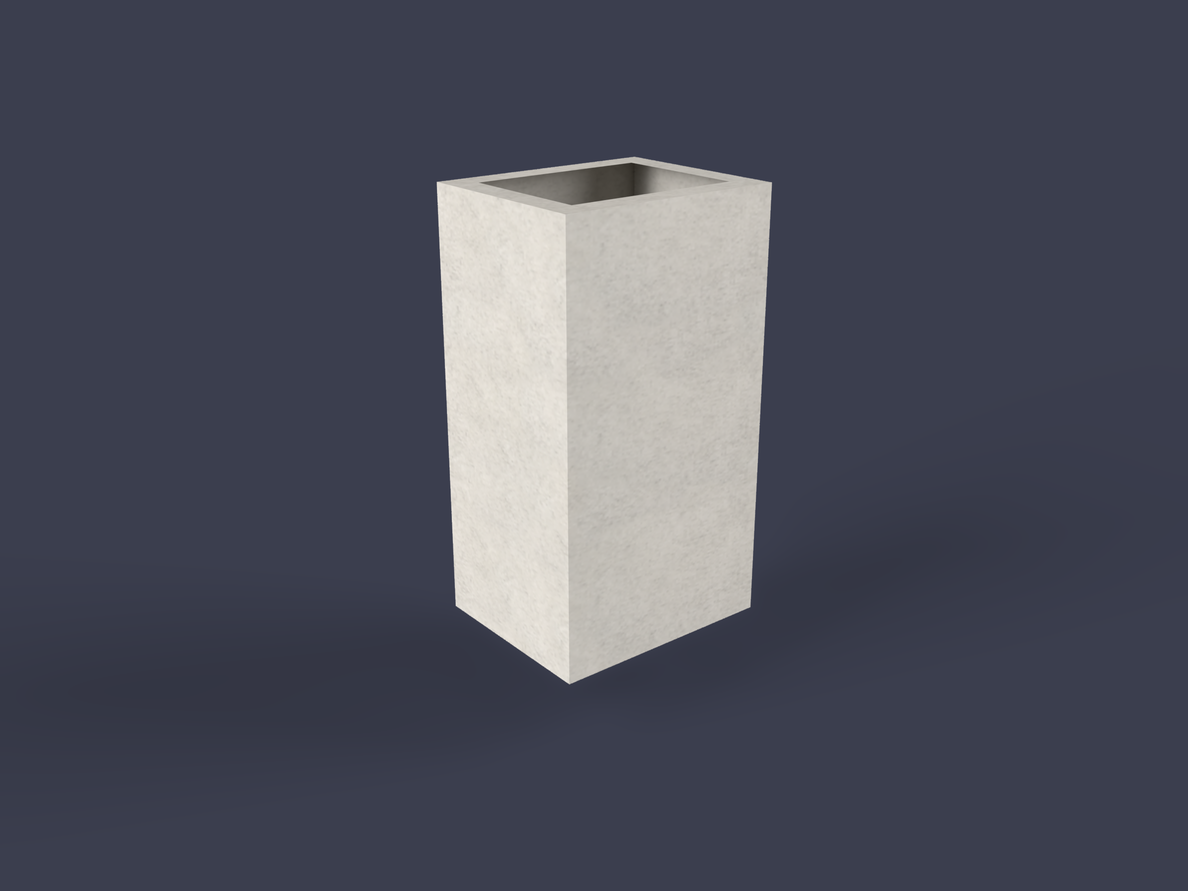 Square concrete chimney for fireplace