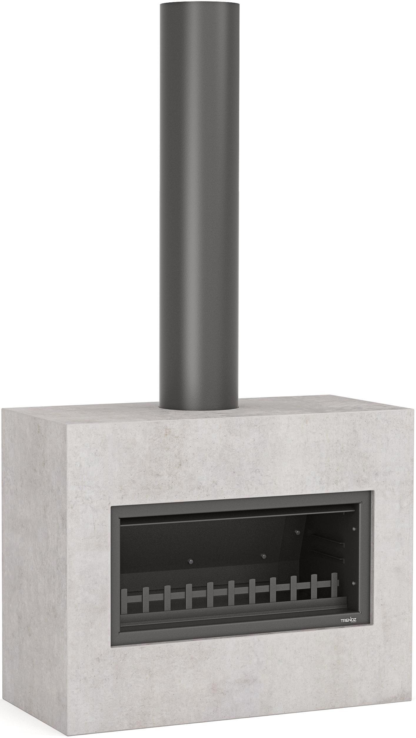 Trendz outdoor fireplace in the Mini Burton design